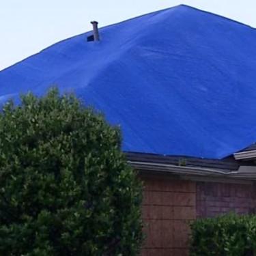 Waterproof Blue Tarp Emergency Repairs Ascension Roofing Houston